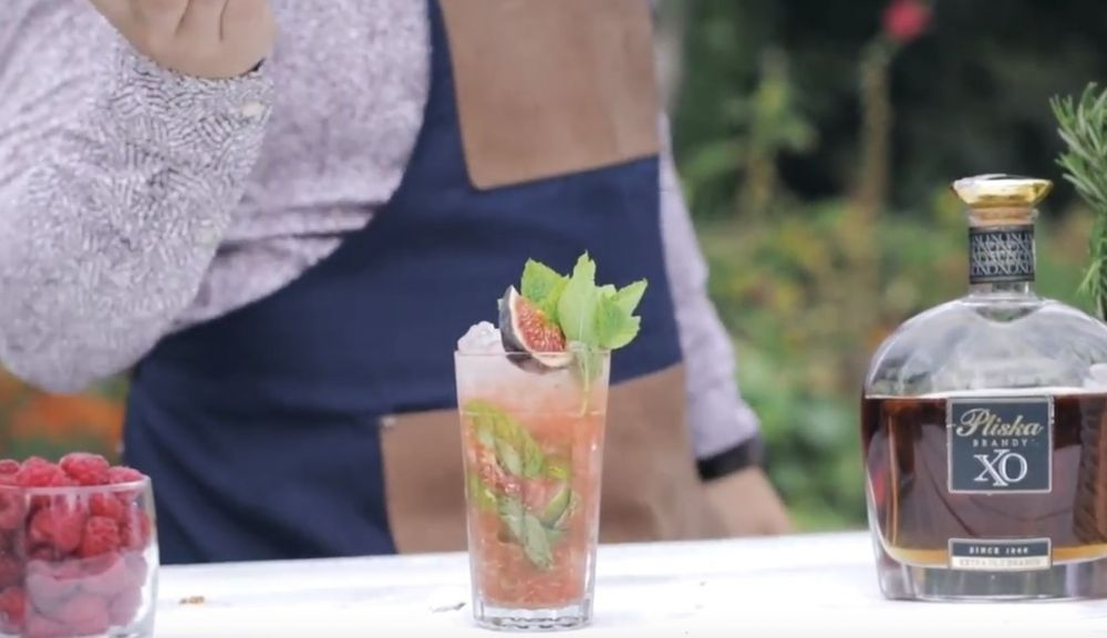 Przepis na Mojito z brandy i owocem figi