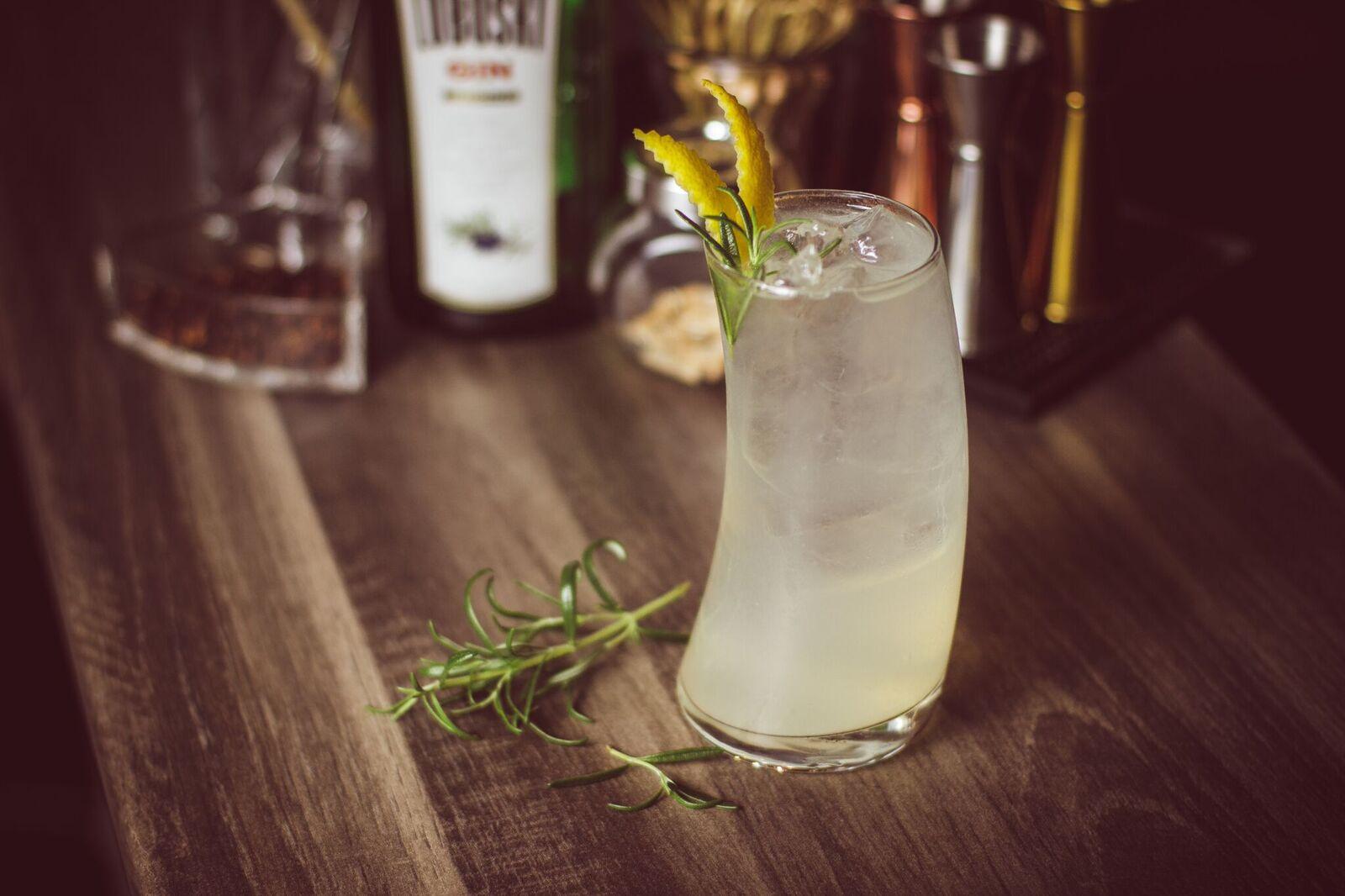 Gin Fizz - cytrusowy, orzeźwiający drink z ginem.