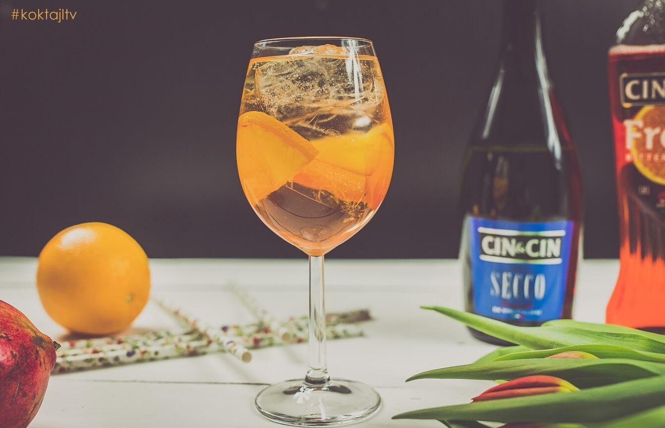 Bitter Fresh Spritz - drink w stylu Aperol Spritz.