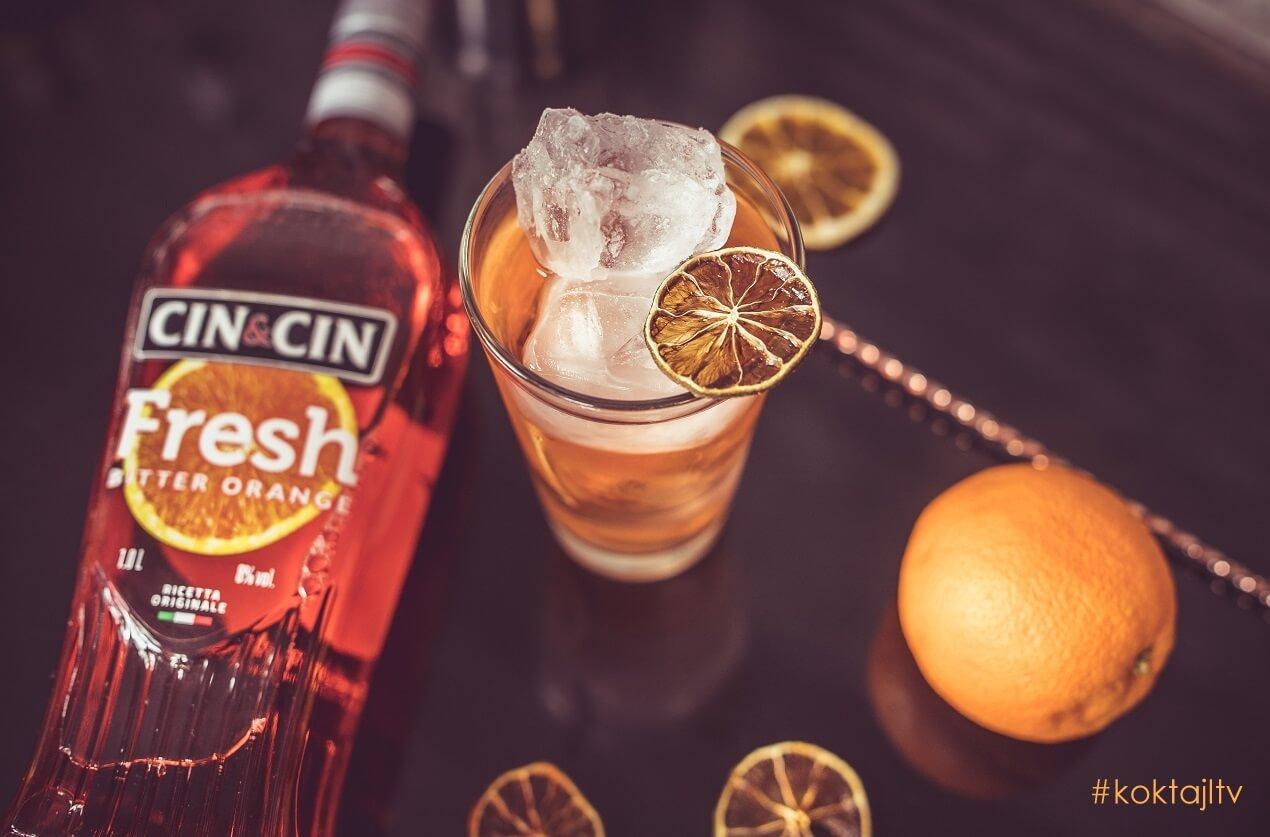 Cin & Cin Fresh & Soda. Wytrawny, prosty drink z Bitter Orange.