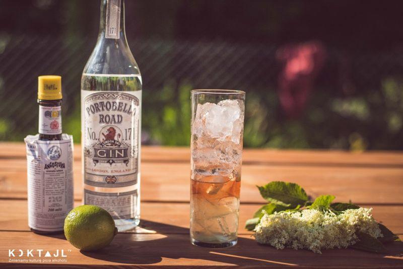 Drink z ginem i syropem z kwiatu bzu - Totalny sztoos!