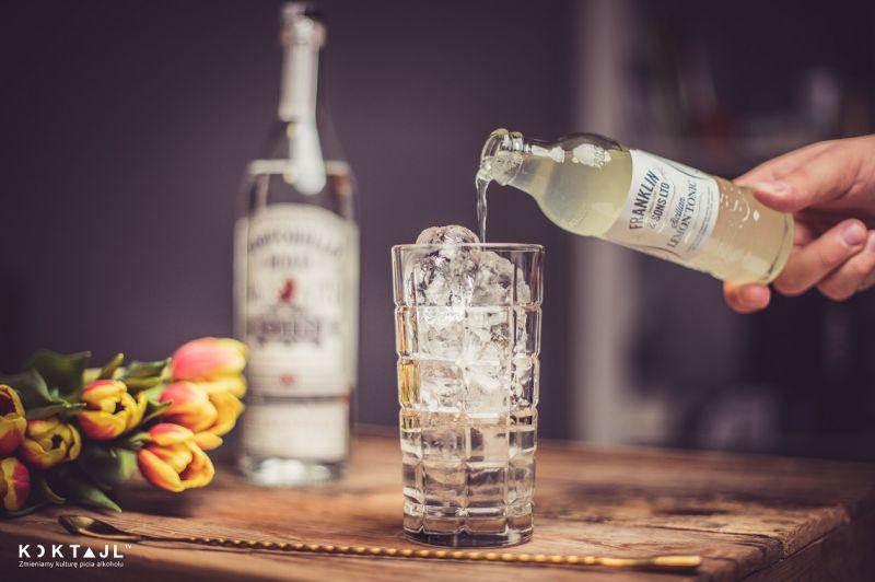 Gin z cytrynowym tonikiem smakowym