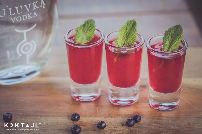 Jagodowe shoty z wódką