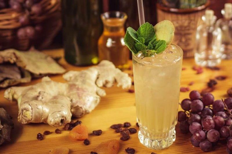 Виски Ginger Fizz - освежающее сочетание виски и имбиря.