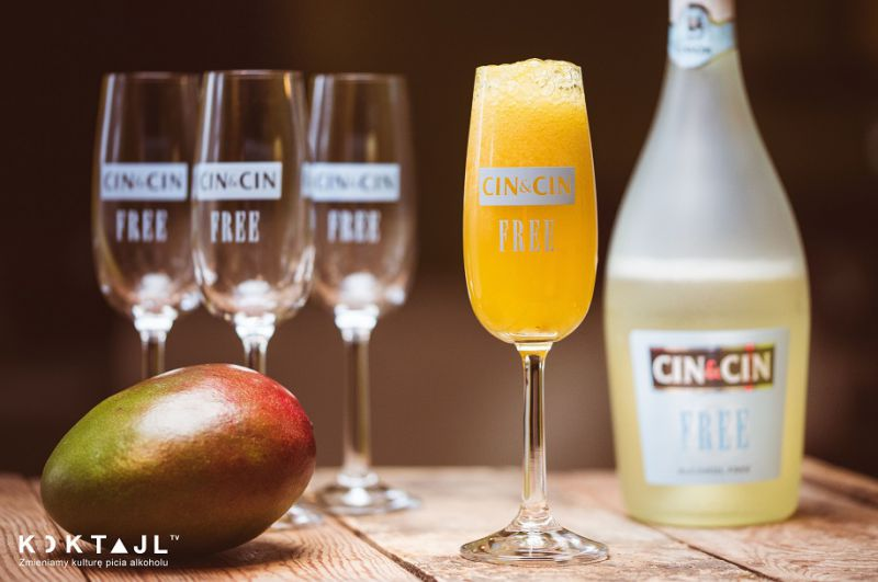Baby Bellini  - bezalkoholowy drink z mango i Cin&Cin Free