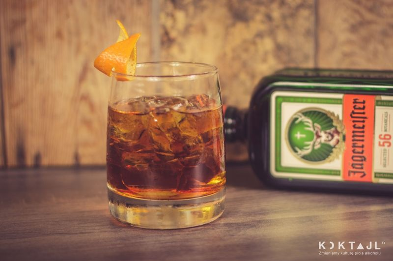 Jager Old Fashioned - smaczny drink z Jagermeisterem i whisky