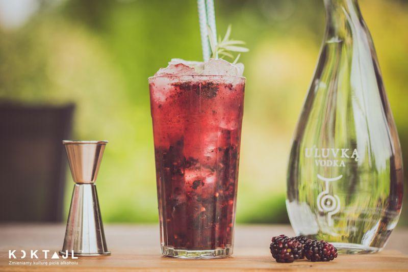Jeżynowy Collins - prosty drink z wódką i jeżynami