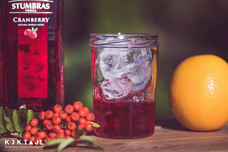Wódka żurawinowa z sokiem pomarańczowym.  Drink z wódką żurawinową.