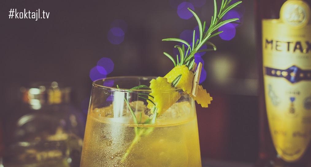 Orzeźwiający drink z Metaxą - Imbirowa rozkosz.