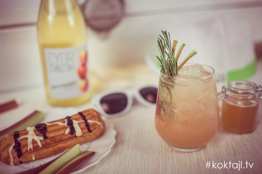 Rabarbarowe Love - przepis na drinka z rabarbarem i ginem.