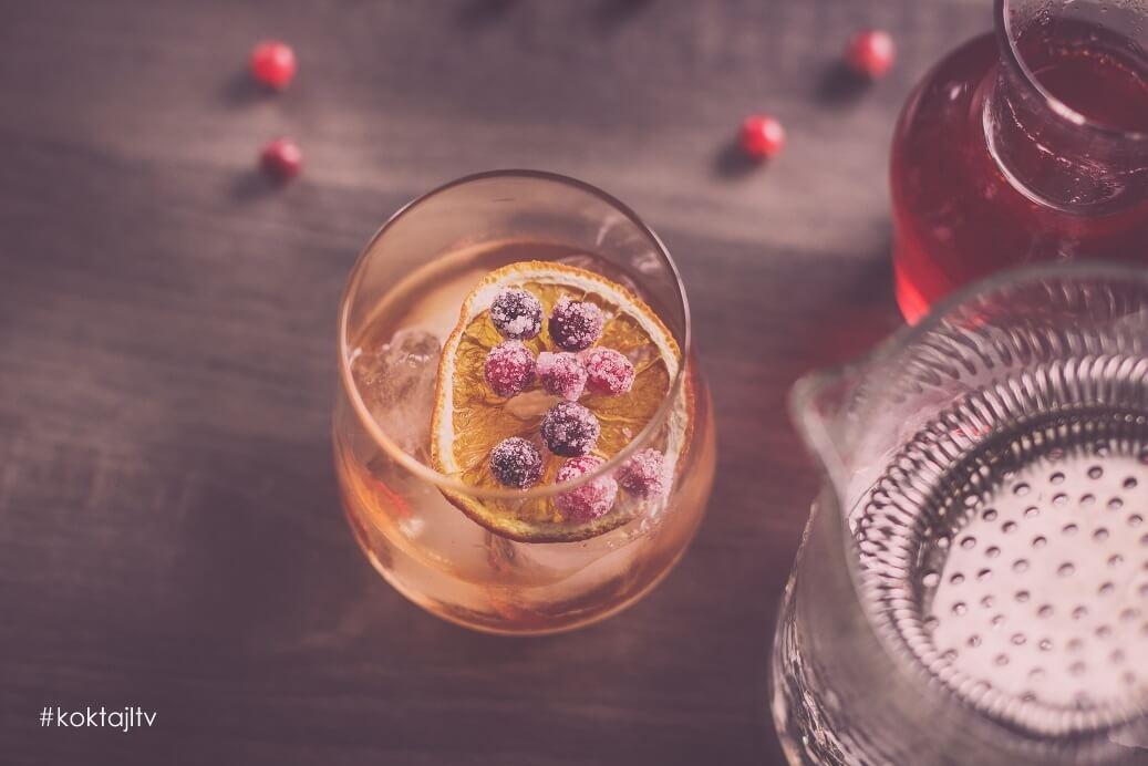 Whiskey drink z octem balsamicznym. Old Fashioned po mojemu!