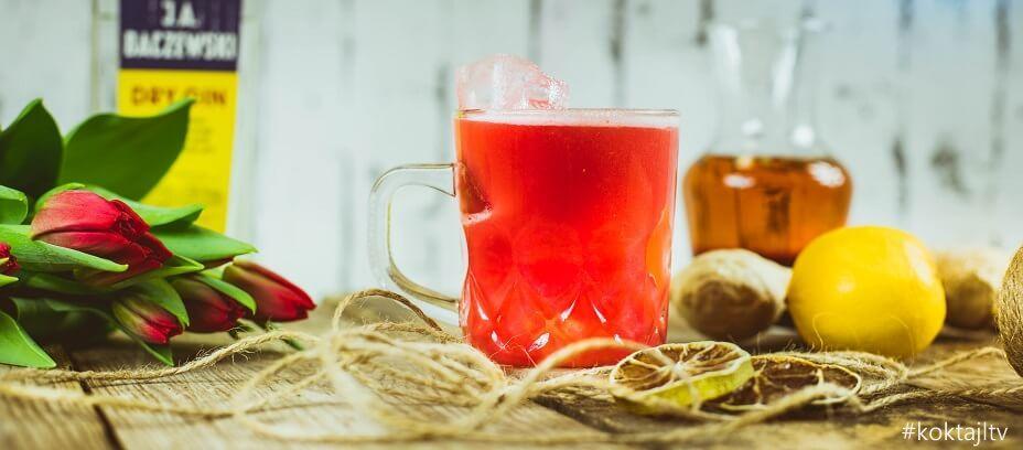 Gin Cherry Sour - smaczny przepis na drinka z ginem infuzowanym herbatą owocową.