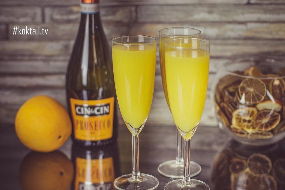 Drink Mimoza. Przepis na drinka z Prosecco.
