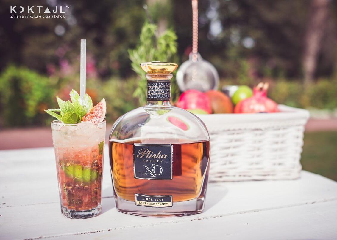 Mohito (Mojito) drink z brandy i figą. Smaczny przepis na jesień.