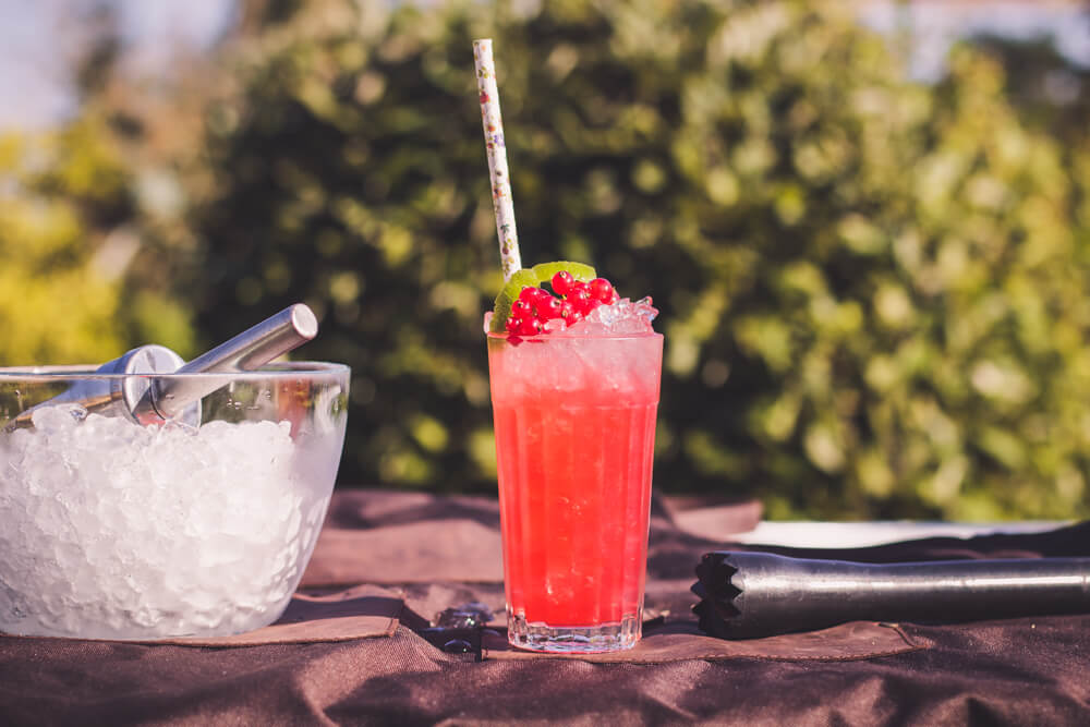 Porzeczkowy Collins - drink z czerwonej porzeczki i wódki za 5 zł.