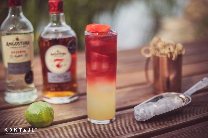 Wakacyjny drink z rumem w stylu tiki